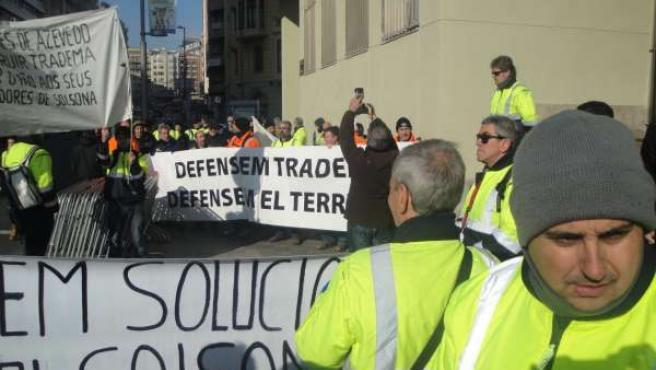 Manifestación de rabajadores de Tradema de Solsona