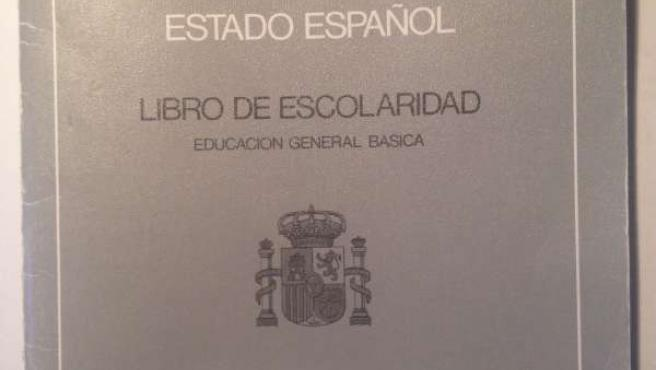 Libro de escolaridad encontrado