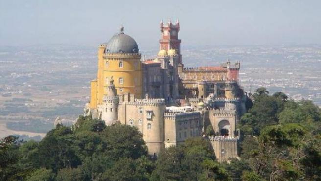 El singular Palacio da Pena, en las afueras de Sintra.