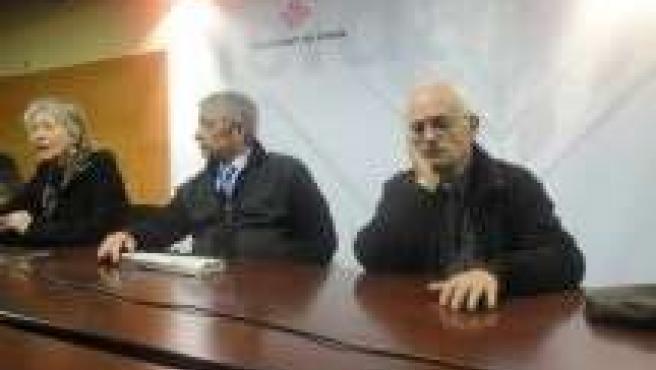 Los síndicos G.Valent, J.Giné y F.Prieto