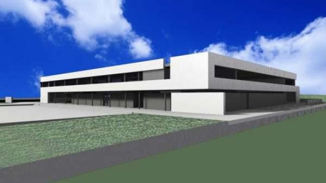 Maqueta nuevo instituto de Cártama