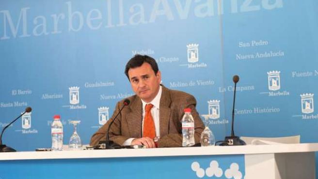 El portavoz del PP en el Ayuntamiento de Marbella, Félix Romero