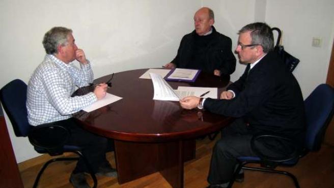 Reunióm Foro Oviedo con responsables de comercio