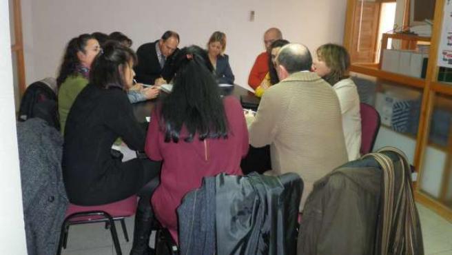 Reunión del PSOE con el Comité de La Casona