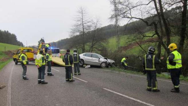Accidente registrado en carreño en el que tres familiares perdieron la vida.