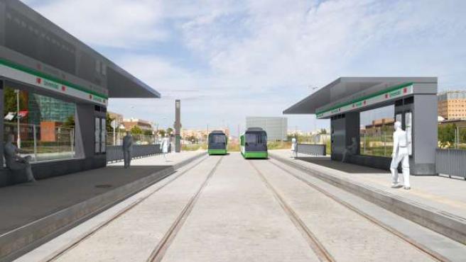 Marquesinas del metro de Málaga