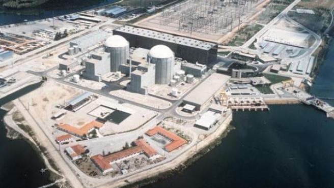 Vista aérea de la Central nuclear de Almaraz.