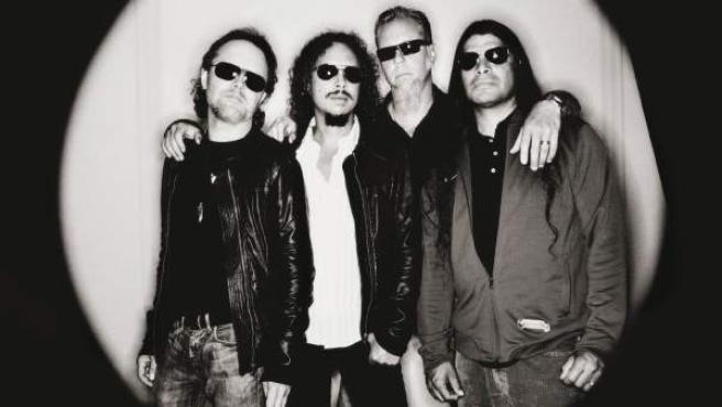 Los miembros de la banda Metallica.