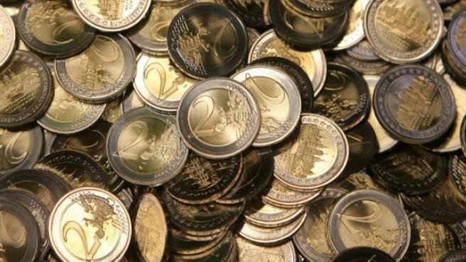 Monedas de dos euros.