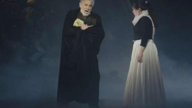 Plácido Domingo durante una de sus actuaciones