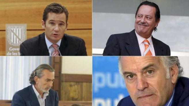 Iñaki Urdangarin, Julián Muñóz, Francisco Correa y Luis Bárcenas.
