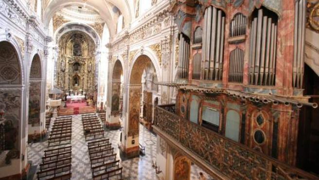 Interior de una iglesia, en una imagen de archivo.