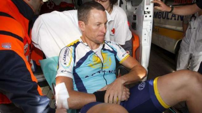 El exciclista estadounidense, Lance Armstrong, en una imagen de archivo durante su etapa en el Astana.