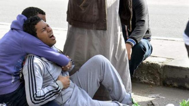 Protestas por la condena a muerte de los detenidos de Port Said.
