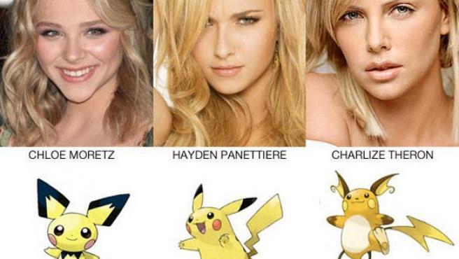 """¡Charlize, te elijo a ti!"": Actores y 'celebrities' que se parecen a Pokémon"