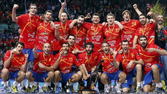Los 'hispanos', campeones del mundo 2013 en el Palau Sant Jordi.