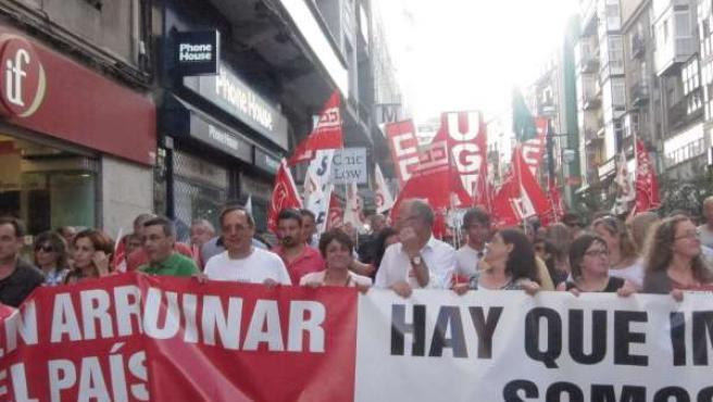Manifestación en Cantabria contra los recortes