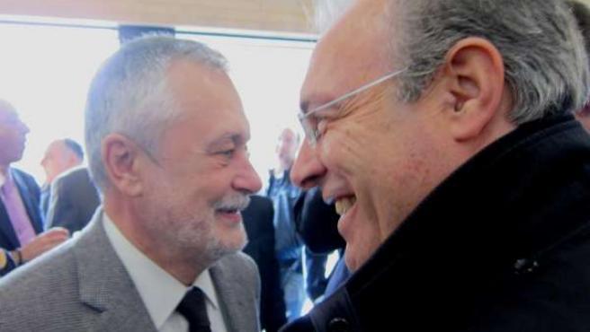 Griñán junto al secretario general del PSOE cordobés