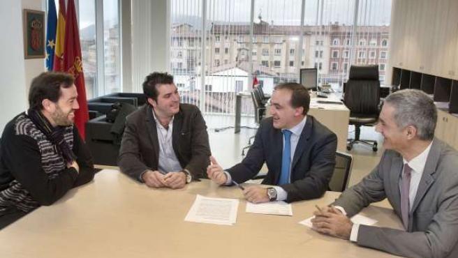 Jordi Vidal, David Palacios, José Javier Esparza y Juan Pablo Rebolé.