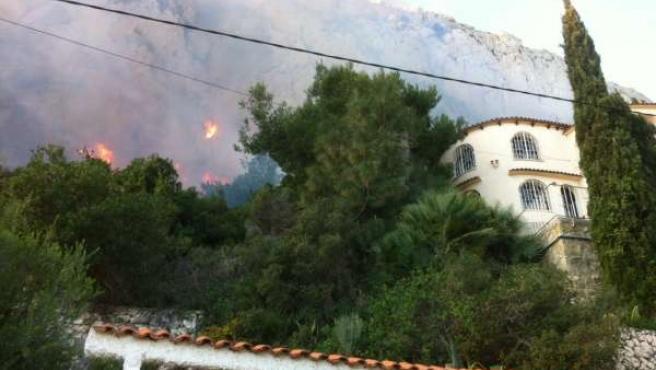 Incendio declarado en Calpe
