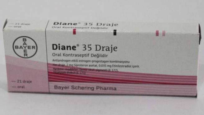 Caja del fármaco Diane 35.