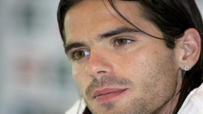 Fernando Gago, en rueda de prensa.