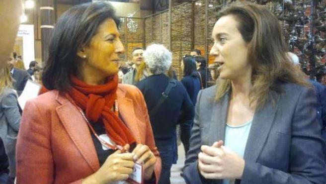 Alcaldesa de Logroño en Fitur con la secretaria de Estado de Turismo