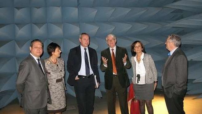 Álvarez de la Chica, en su visita al PTA