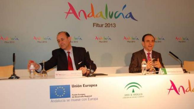 El consejero de Turismo de Andalucía Rafael ROdríguez en Fitur