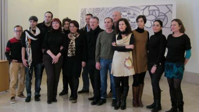 Responsables y participantes en la XIV Valencia Fashion Week