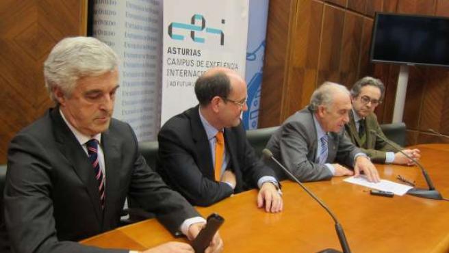 Por la izquierda, García, Álvarez, Gotor y Rico, en la rueda de prensa.