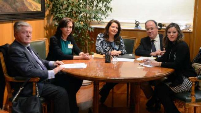 Reunión de Crespo para abordar los fondos Miner