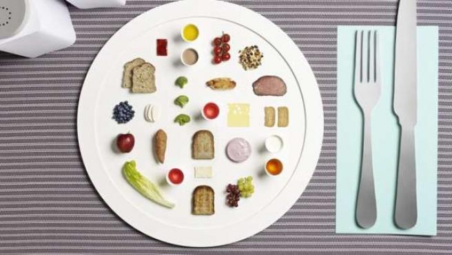 Bodiam y Parker ilustran el menú de un triatleta