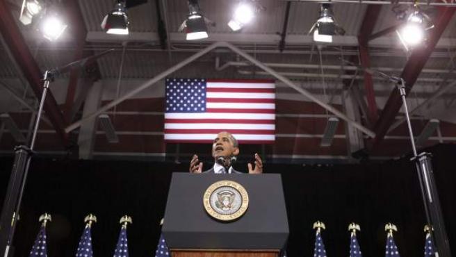 El presidente estadounidense, Barack Obama, el martes 29 de enero de 2013, en Nevada (EE UU).