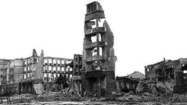 Imágen de Stalingrado tras la batalla que acabó con los nazis en la Segunda Guerra Mundial.