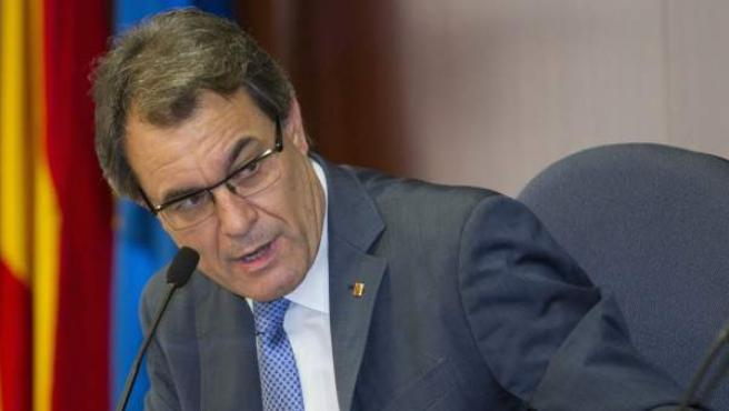 El presidente de la Generalitat, Artur Mas, durante un coloquio.