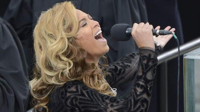 Beyoncé, durante la ceremonia de investidura del segundo mandato de Obama.
