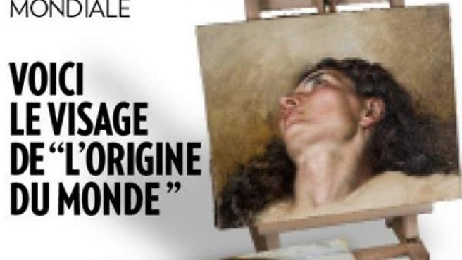 Portada de la revista París Match en la que aparece el rostro de la mujer del célebre cuadro de Courbet 'El origen del mundo'