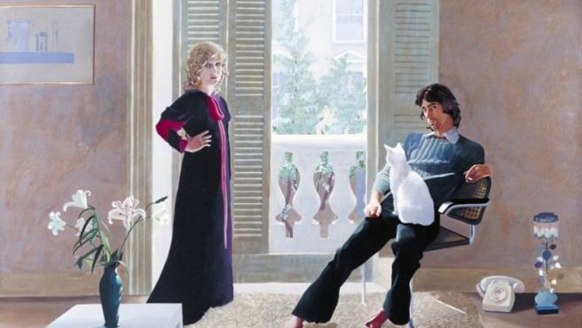 'El señor y la señora Clark y Percy' (1970-1), cuadro de David Hockney incluido en la exposición