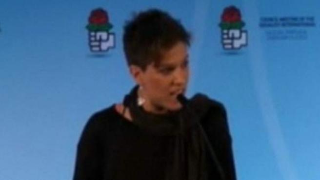 Beatriz Talegón, secretaria general de la Unión Internacional de Juventudes Socialistas.