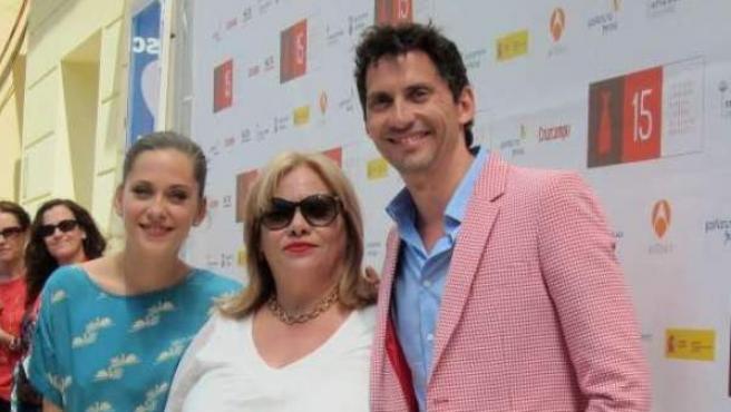 Paco León, María León y Carmina Barrios, de la película 'Carmina o revienta'.