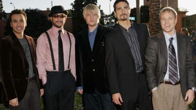 Una imagen de los cinco integrantes de los Backstreet Boys, en 2005.