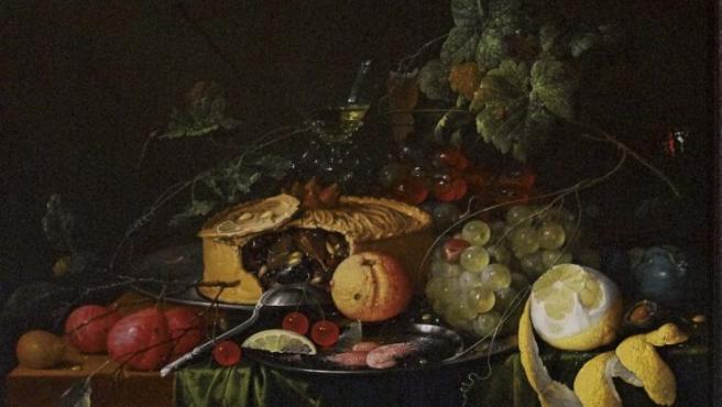 'Bodegón con frutas y empanada' (1651), de Jan Davidsz De Heem, pintor barroco holandés