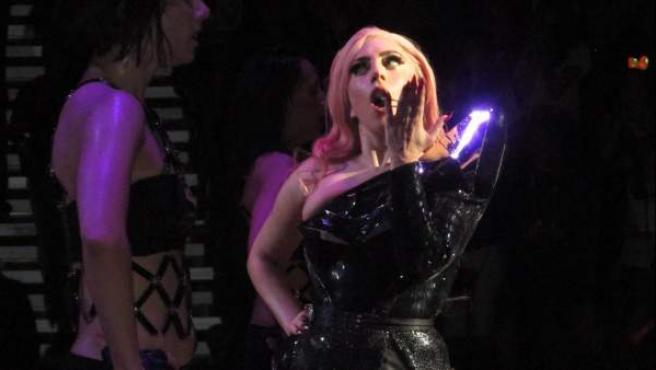 Lady Gaga en un concierto el pasado enero de 2013.