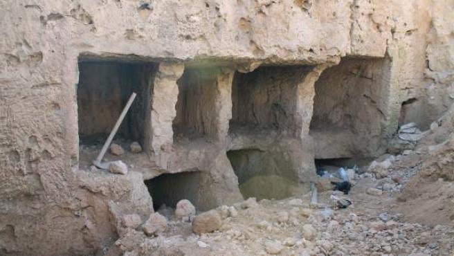Varias tumbas que datan de la época grecorromana (332 a.C.-395 d.C.), descubiertas en la zona de Qabari, en la ciudad mediterránea de Alejandría, al norte de El Cairo.