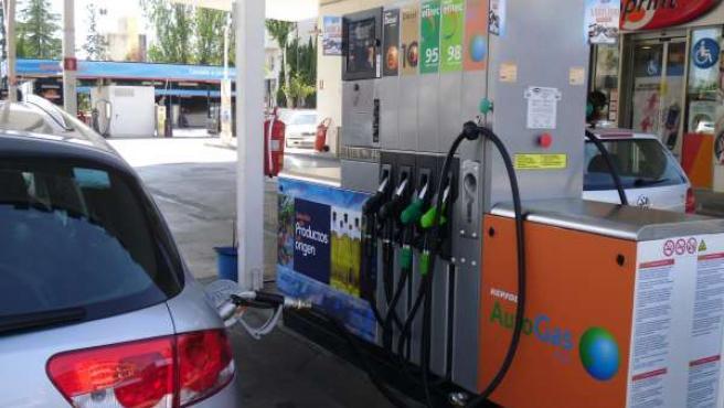Punto de suministro de autogas