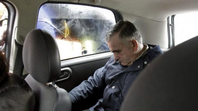 El autor confeso del robo del Códice Calixtino de la Catedral de Santiago, Manuel Fernández Castiñeiras, tras salir de prisión.