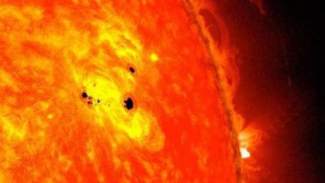 Imagen de la gran mancha solar.