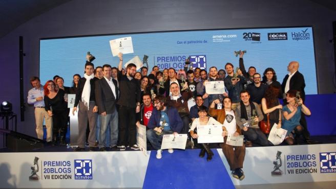 Estos son los ganadores de la séptima edición de los Premios 20Blogs. En total, fueron 22 galardonados.