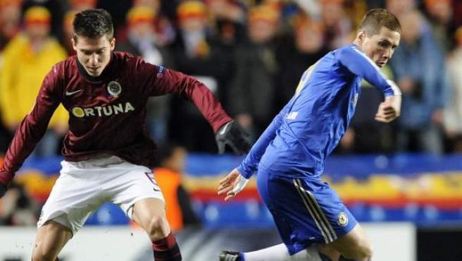 Fernando Torres ante el Chelsea - Sparta de Praga.